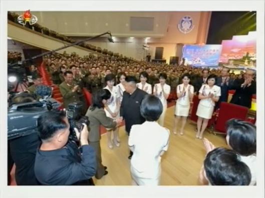 KJU congrat Hyon Song-wol 20140520